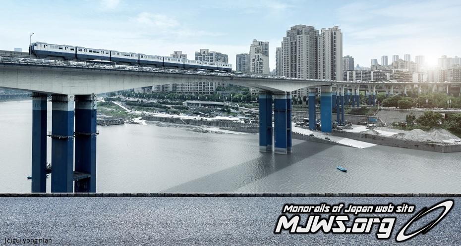 重慶モノレール3号線[世界最長か...